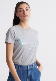 SUPERDRY VL Stitch Sequin Entry Tee