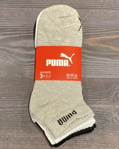 PUMA Basic Quarter Socken 3er Pack