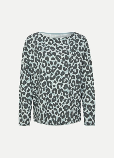 Juvia Fleece Sweater Ocean Leopard