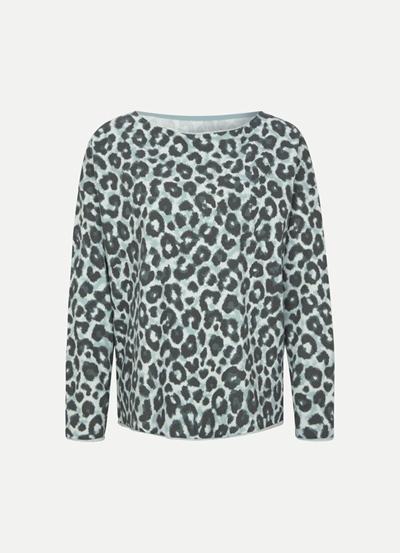 Juvia Fleece Sweater Ocean Leopard
