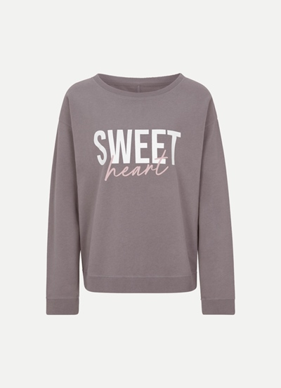 JUVIA Fleece Sweater with Rib Sweetheart