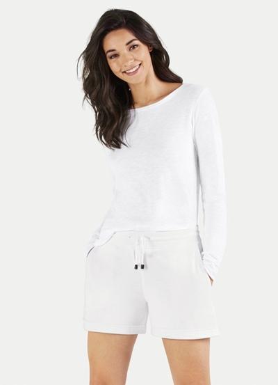 JUVIA Fleece Shorts with Turn-Up Damen