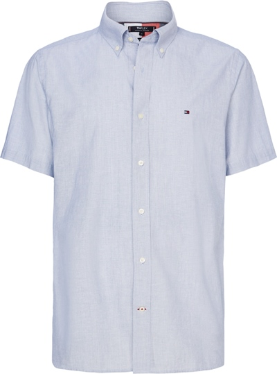 TOMMY Flex CO/LI Pinstripe Shirt S/S