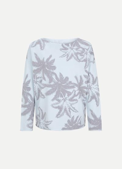 JUVIA Devoré Palms Sweater Damen