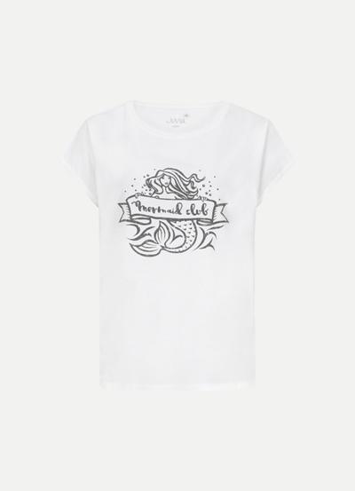 JUVIA Washed CO Boxy Shirt Mermaid Club