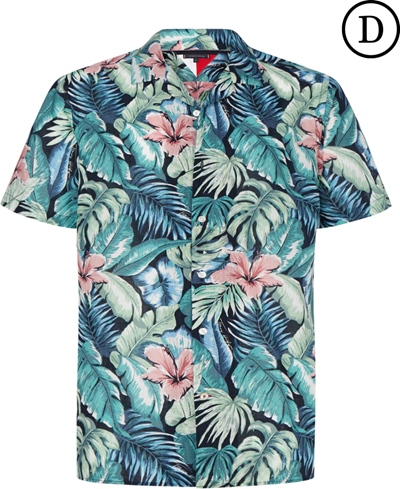 TOMMY HILFIGER Hawaiian Print Shirt S/S