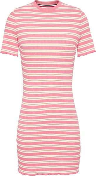 TOMMY TJW Striped Rib Tee Dress
