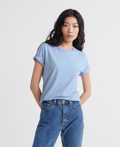 SUPERDRY Reg Flock Entry Tee Damen