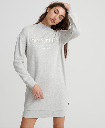 SUPERDRY APPLIQUE SWEAT DRESS