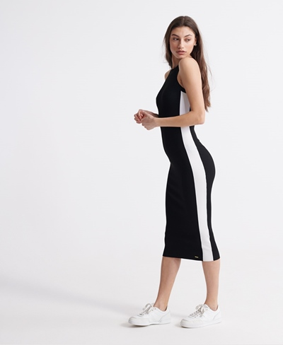 SUPERDRY EDIT RACER MIDI KNIT DRESS