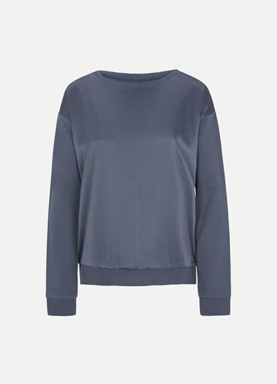 JUVIA Fleece Sweater with Satin Front