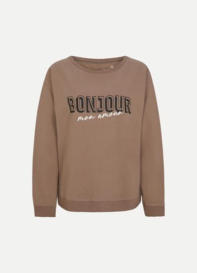 JUVIA Fleece Sweater with Rib Bonjour