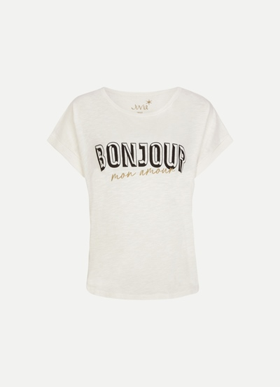 JUVIA CO Slub Boxy Shirt Bonjour