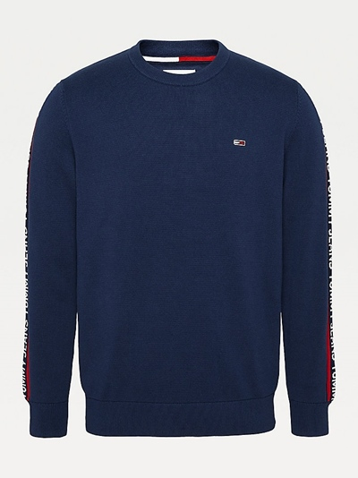 TOMMY JEANS TJM Sleeve Tape Sweater