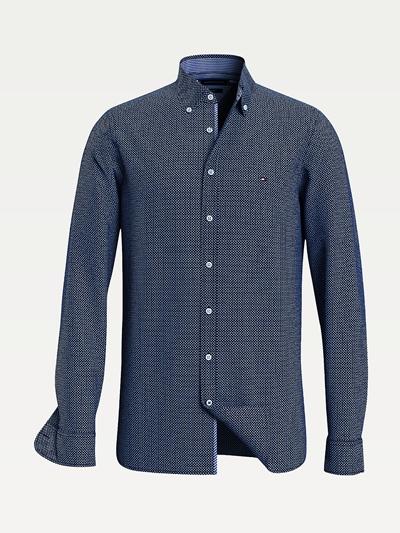 TOMMY HILFIGER  Micro Print Twill Shirt