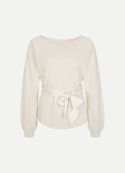 Fleece Sweater Belted