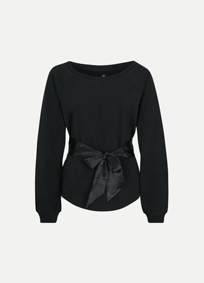 JUVIA Fleece Sweater Belted Damen