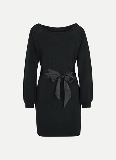 JUVIA Fleece Dress with Satin Belt Damen