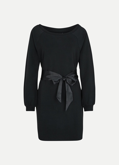 JUVIA Fleece Dress with Satin Belt Damen