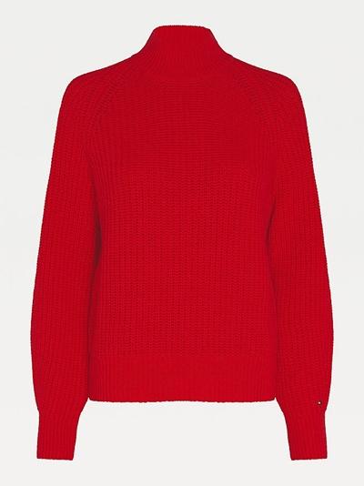 TOMMY HILFIGER Rib Mock-NK Sweater LS