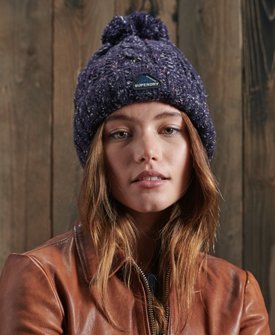 SUPERDRY Gracie Cable Beanie Damen