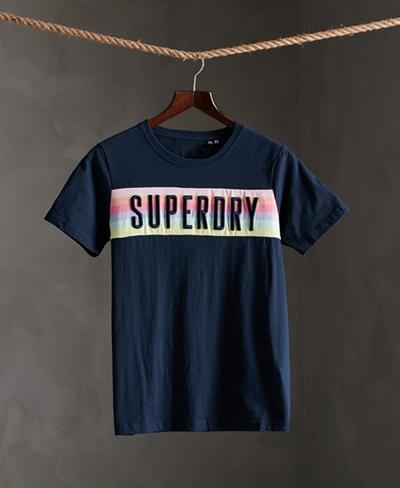 SUPERDRY SB RAINBOW PANEL ENTRY TEE