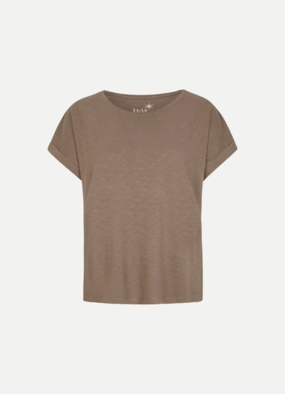 JUVIA CO Slub Boxy Shirt Damen