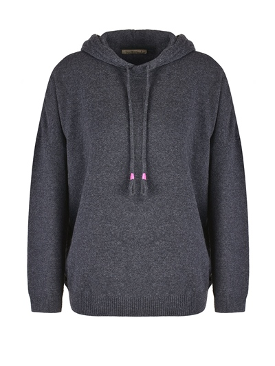 """Smith & Soul Knitted """"X"""" Hoodie Damen"""