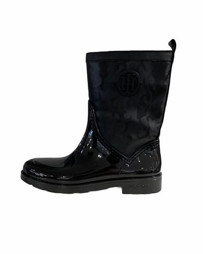 TOMMY HILFIGER Shiny Camo Rain Boot