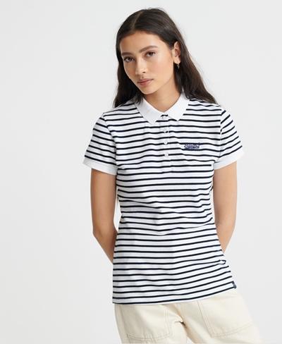 SUPERDRY Stripe Polo Shirt Damen