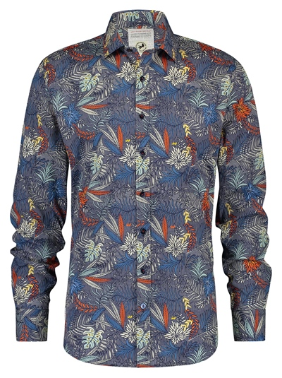 A FISH NAMED FRED Shirt Check Leaves